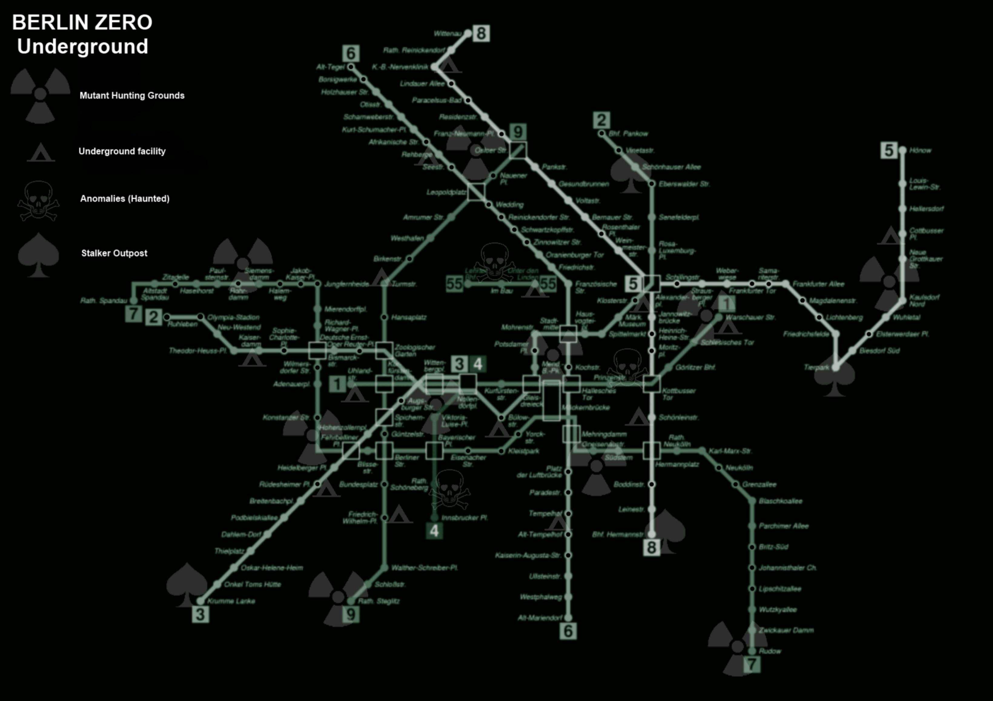 Berlin Subway Map Poster.Summer2010